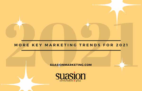 More Key Marketing Trends for 2021